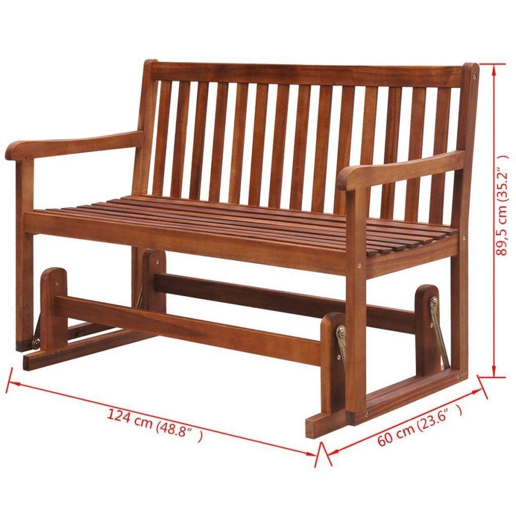 Amazon com k top deal patio garden porch swings acacia wood patio furniture swing chair garden outdoor