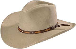 product image for Stetson Men's Hutchins 3X Wool Felt Cowboy Hat - Swhutc403420 Stone