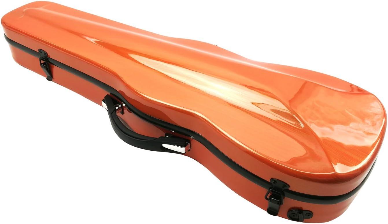Estuche para violín de Aliyes, tamaño de violín 4/4 completo, de fibra de carbono, con higrómetro, duradero y ligero, XXH-7005: Amazon.es: Instrumentos musicales