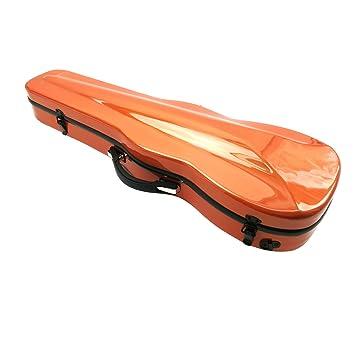 Estuche para violín de Aliyes, tamaño de violín 4/4 completo, de fibra de carbono, con higrómetro, duradero y ligero, XXH-7005