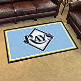 MLB Tampa Bay Devil Rays Baseball 4x6 Accent Area Rug