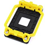 sourcingmap® Black Yellow Plastic AMD CPU Fan Stand Bracket Base Socket for AM2 AM3