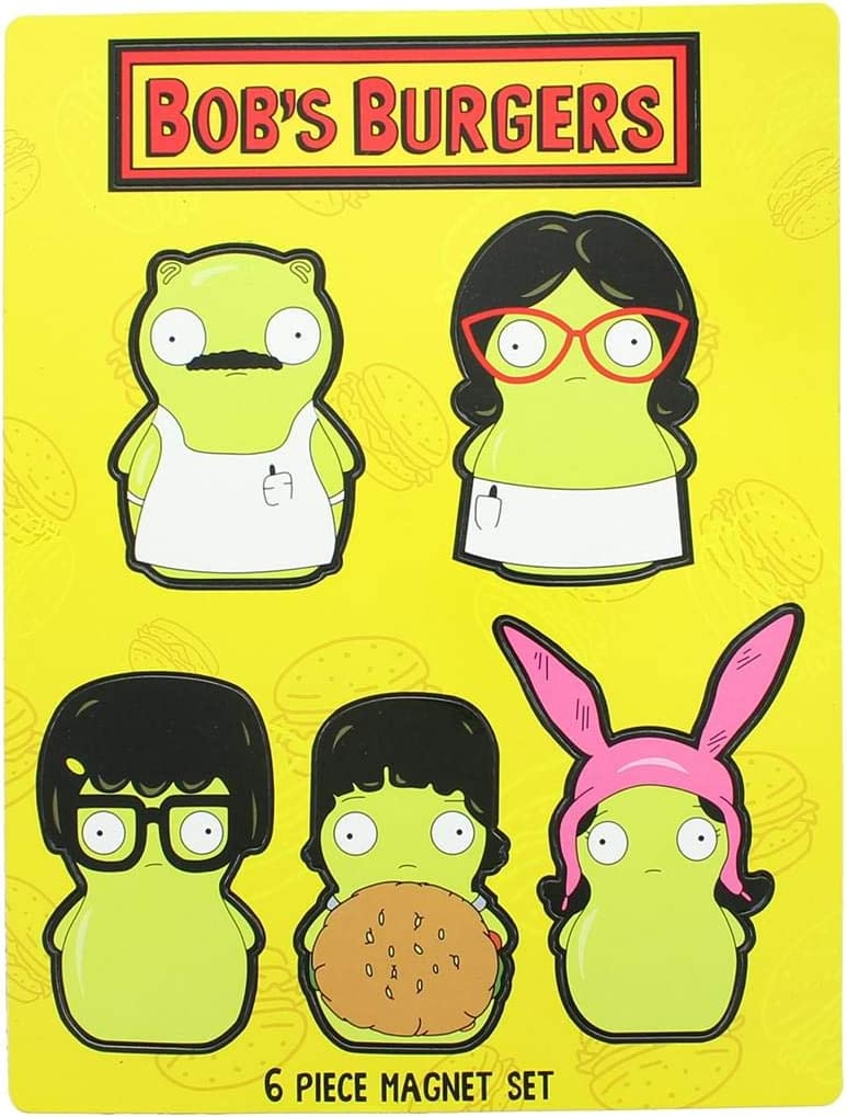 Bob's Burgers Kuchi Kopi Family 6Pcs Magnet Set Collectible Toys
