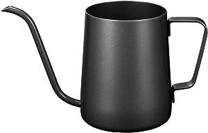 Pour Over Kettle Gooseneck Long Narrow Drip Spout Coffee Tea Pot (12 Oz) - Black, 350ML