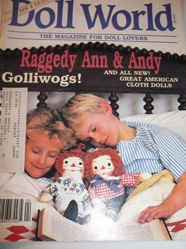 NATIONAL DOLL WORLD March / April 1987 (Magazine, The Magazine for Doll Lovers, Raggedy Ann & Andy, Golliwogs, Great American Cloth Dolls)