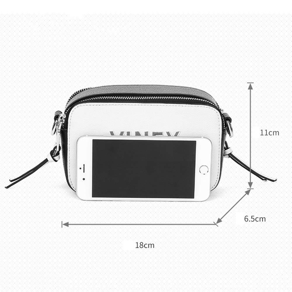 Color : B, Size : 743 inches Kmgjc Female Bag New Leather Wild Messenger Bag Small Square Bag Shoulder Bag