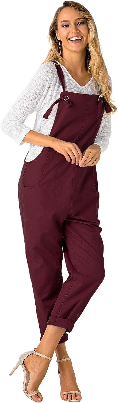 YOINS Donna Salopette Retro Sciolto Salopette Baggy Strappy Tasca Senza Maniche Lunghe Tuta Tutina Pagliaccetto Pantaloni con Pantaloni