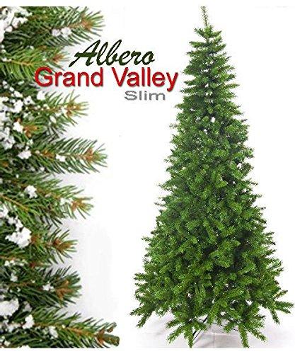 Albero Di Natale Slim 210.Albero Di Natale Slim Grand Valley Cm 210 778 Rami