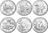 2009 P BU Territory Quarters - 6 coin Set
