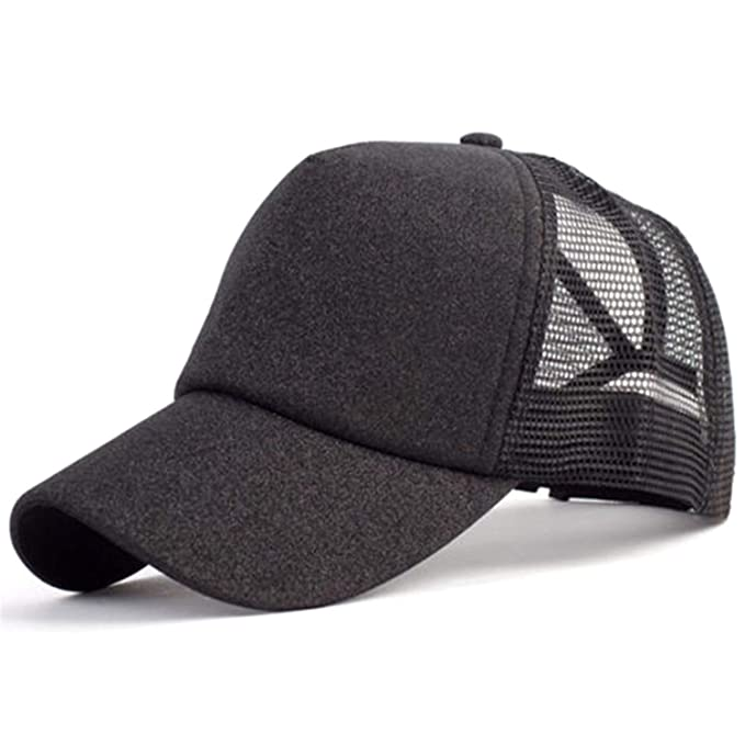 6b60d5dd9ac43f Kongsta Glitter Baseball Cap Women Snapback Hat Summer Messy Bun Mesh Hats  Casual Adjustable Sport Caps