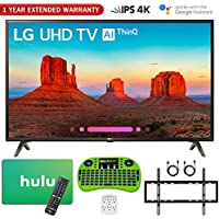 LG 49UK6300 49 UK6300 4K HDR Smart LED AI UHD TV w/Hulu Gift Card Warranty Bundle