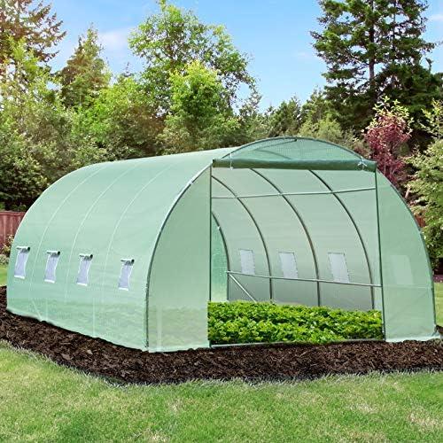 Outsunny Invernadero caseta 600 x 300 x 200 cm para Jardin y terraza Cultivo de Plantas y Semillas: Amazon.es: Jardín