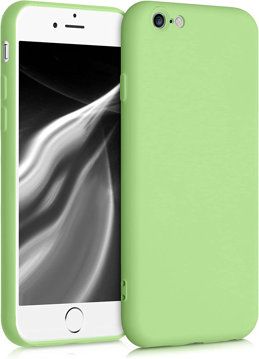 kwmobile Case Compatible with Apple iPhone 6 / 6S - Soft Rubberized TPU Slim Protective Cover for Phone - Tomatillo