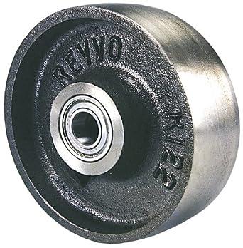 "Revvo 100 CI1H 4"" Diameter X 1-3/4"" Width Cast Iron Wheel, 700 lb. Capacity"