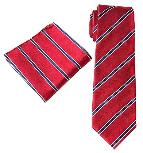 Mon5f Home Traje de Corbata a Rayas de Color Mixto para Hombres ...