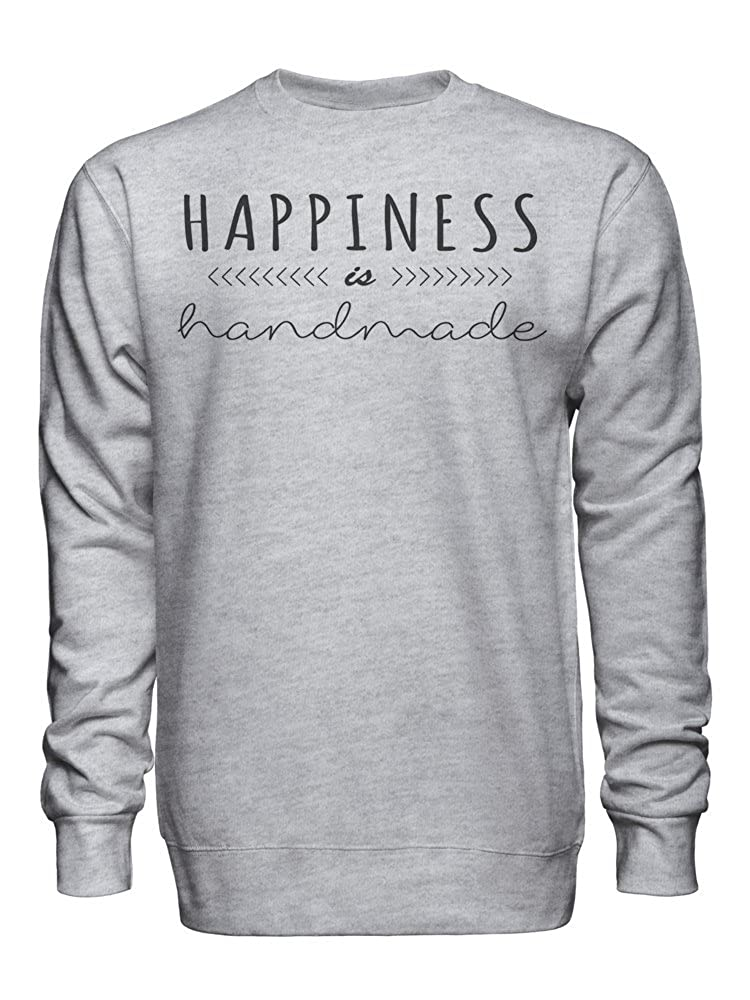 graphke Happiness is Handmade Unisex Crew Neck Sweatshirt