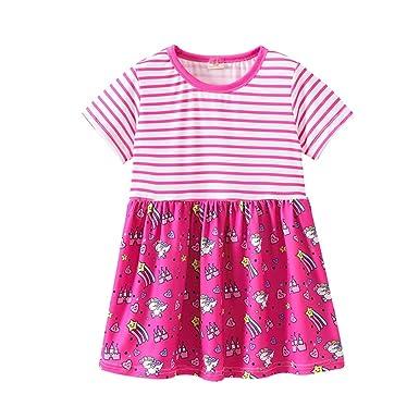 Luckycat Vestido De Niña Vestido Para Bebés Ropa Impresión