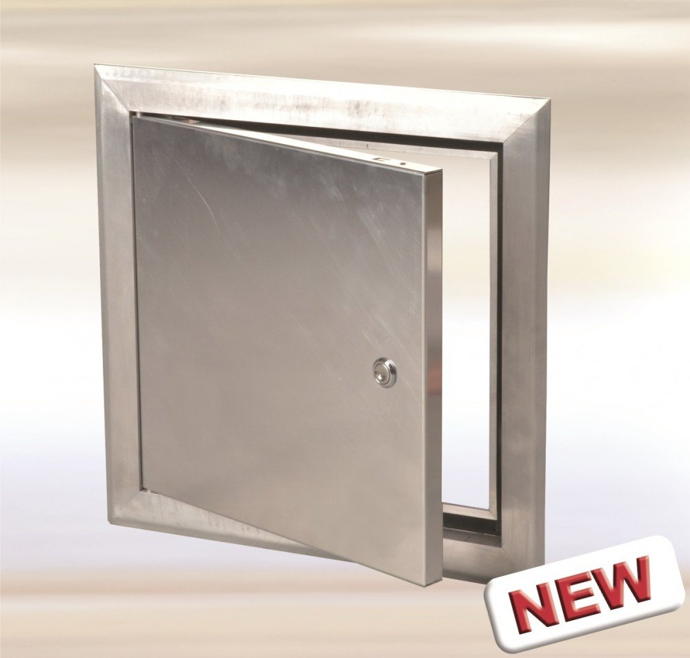 12'' x 12'' Access Door System AluLight for Exterior and Interior, Aluminum Panel with Key lock