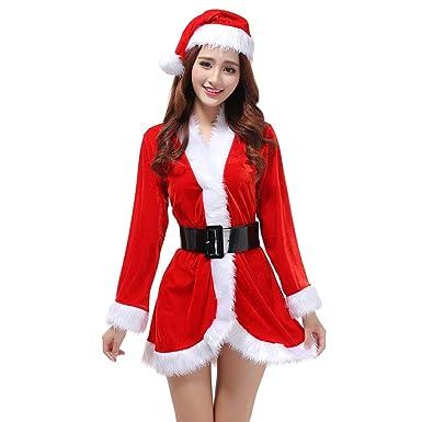 YOUJIA Disfraz de Mamá Noel para Mujer, Trajes de la Navidad ...