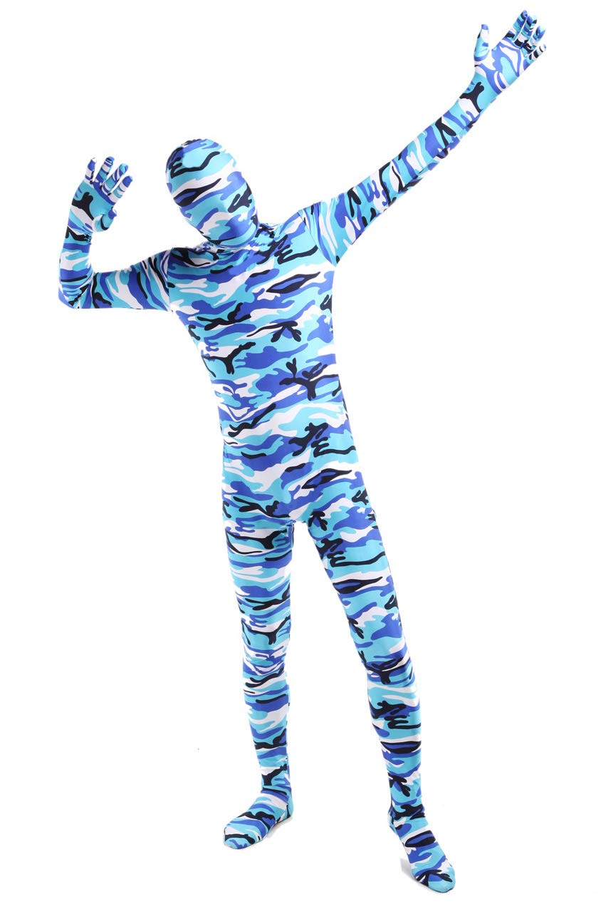 ACE SHOCK Zentai Costume Bodysuit Camouflage, Adult Lycra Spandex Cosplay Full Body Suits 61OyiW3IjdL