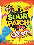 Sour Patch Kids Sweet and Sour Gummy Candy (Extreme, 4 Ounce Bag, Pack of 12)
