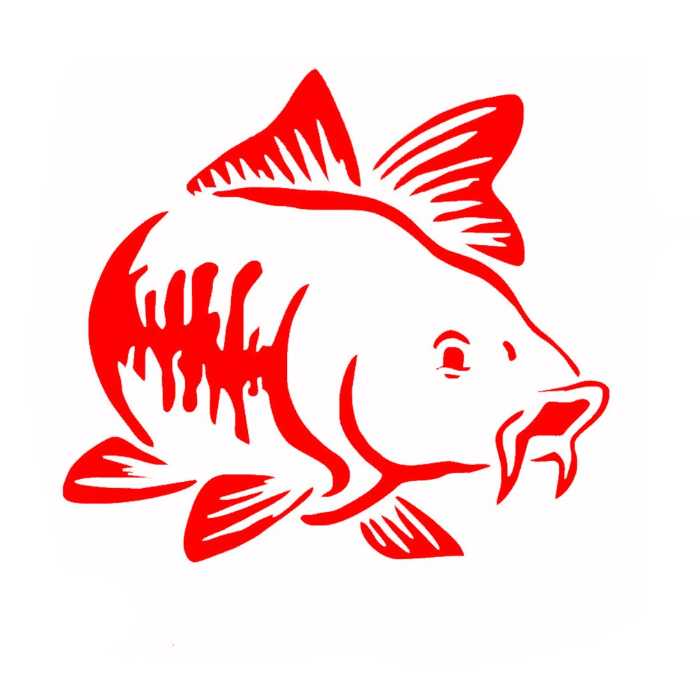 856store Big Promotion Fashion Carp Fishing Hood Tailgate Side Window Car Truck Art Sticker Decal Decor