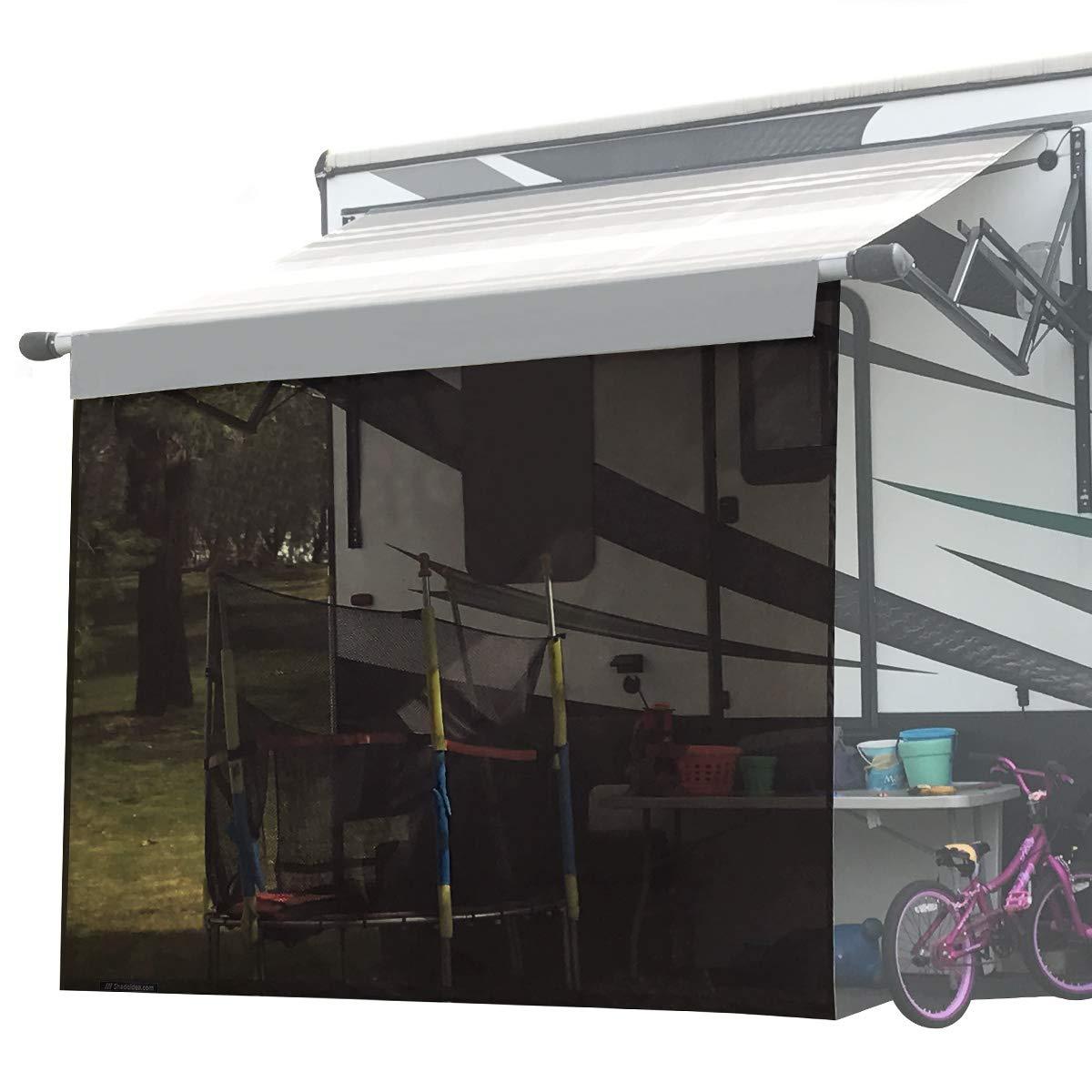 Shadeidea RV Sun Shade Screen for Awning - 8' X 10' 5'' Brown Mesh Sunshade Motorhome Camping Trailer UV Sunblocker Canopy Sunscreen Offer 3 Years Warranty by Shadeidea