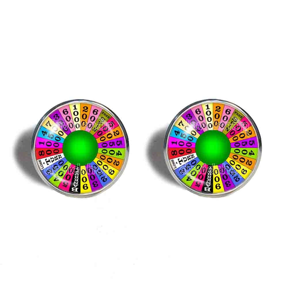 Handmade Cuff links Jewelry Wheel Of Fortune Cufflinks Symbol Cosplay Gift Sign