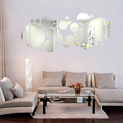 Combinazione di adesivo rotondo specchio Camera da letto Soggiorno ...