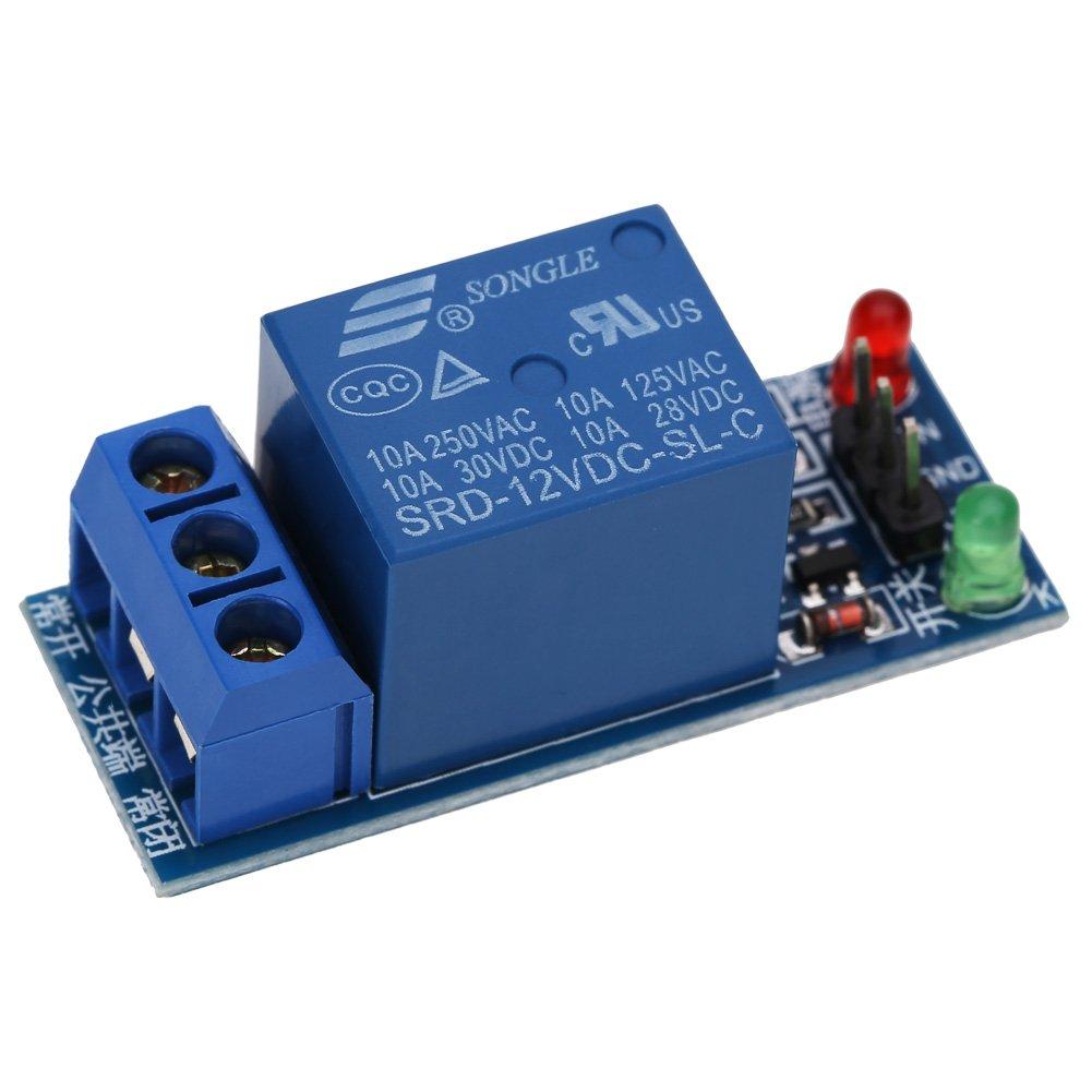 DOMYBEST Bouclier de Carte Optocouple de Module de Relais 12V 1-Channel pour PIC AVR DSP ARM 118179