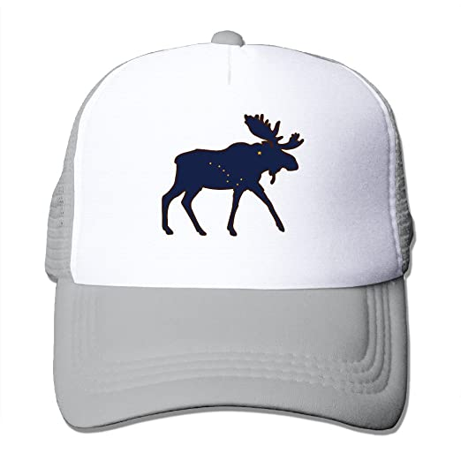 f231ab555212f Amazon.com  Adjustable Hats Alaska State Animal Moose Flag Trucker ...