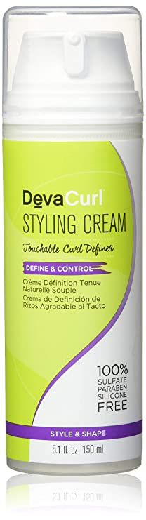 DevaCurl Styling Cream, Define and Control, Touchable Hold, 5.1 Fl Oz