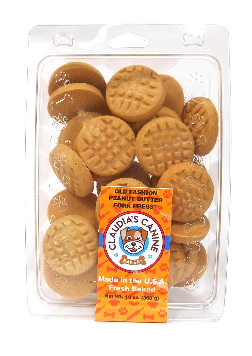 Gourmet Dog Treat Clamshells by Claudia's Canine Bakery (Old Fashioned Peanut Butter)