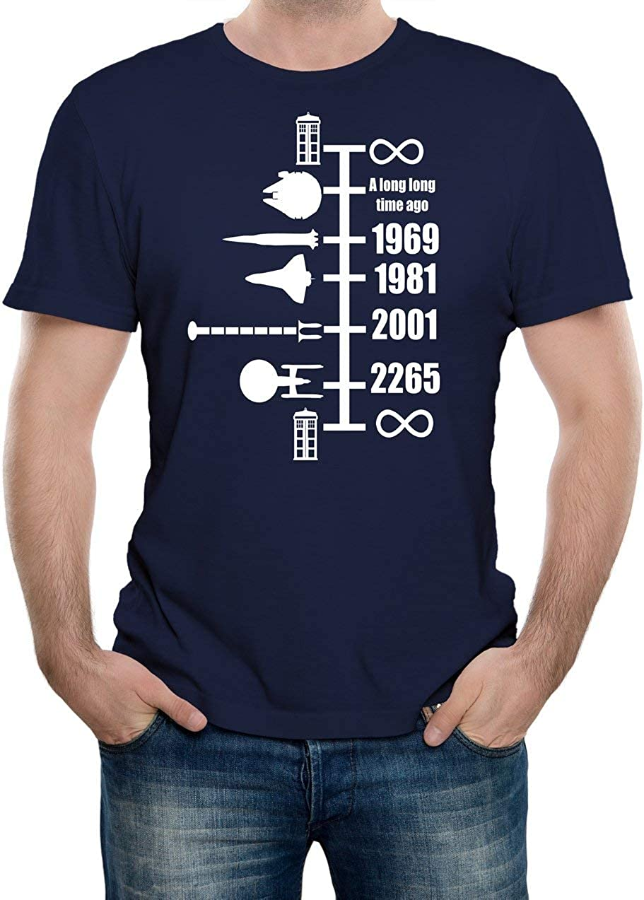 Reality Glitch Mens Spaceship Timeline T-Shirt