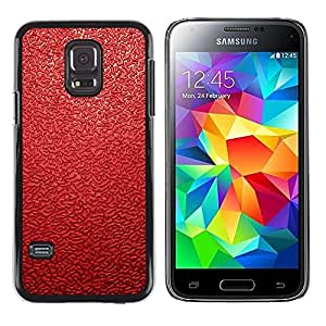 LECELL -- Funda protectora / Cubierta / Piel For Samsung Galaxy S5 Mini, SM-G800, NOT S5 REGULAR! -- Red Leather Pattern --