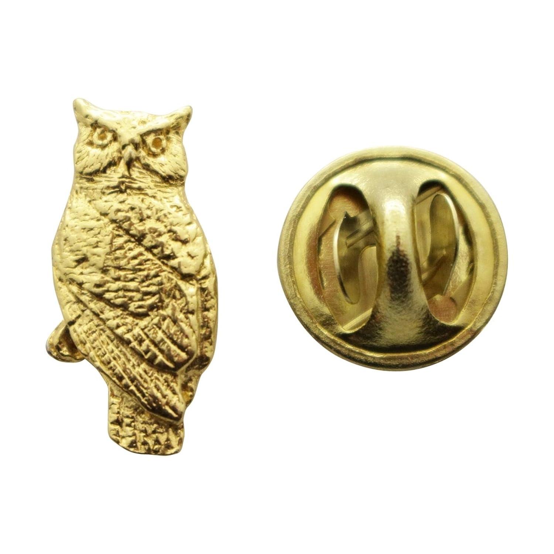 hot sell Owl Mini Pin ~ 24K Gold ~ Miniature Lapel Pin ~ Sarah's Treats & Treasures for sale