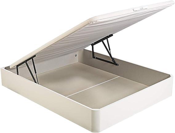 PIKOLIN, canapé abatible de almacenaje Color Blanco 150x190, Servicio de Entrega Premium Incluido
