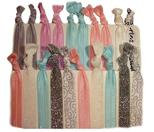 - Hair Ties Ponytail Holders - 20 Pack