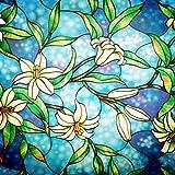 bofeifs Decorative Privacy Window Film Frosted Window Film Stained Glass ...