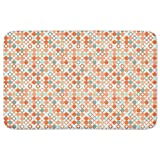 Autumnal Star Bingo Bathroom Rugs: Memory Foam (24 X 36 inch) Incrediby Soft Memory Foam Spa Quality