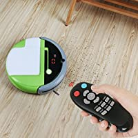EVERTOP Robotic Vacuum Cleaner, With Inertial Navigation Robotic Sweeper, Self Charging Strong Suction Auto Smart Vacuum Robot Pet Hair for Carpet and Hardwood Floors, the Third Generation (Green)