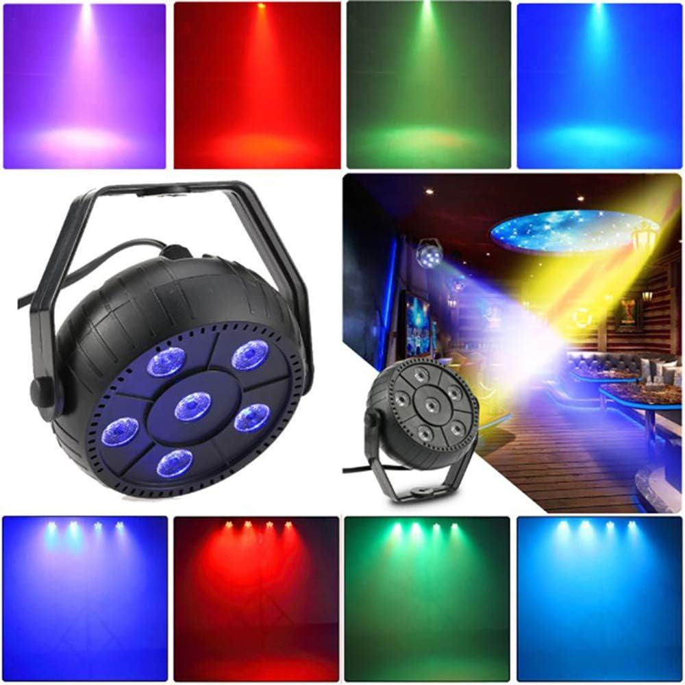 2pack 3 in 1 Stage Light DJ Par luci del palcoscenico Spotlight Auto Lighting Stage Lights controllo vocale migliori per la cerimonia nuziale della festa di compleanno Bar Club Dance Concert Hall cas