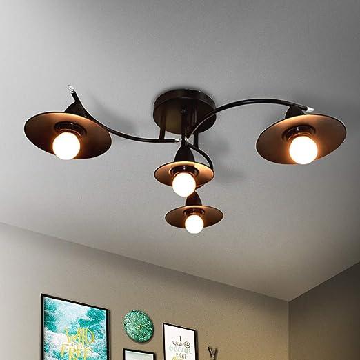 de 4 de negra techo LED GBLY techo Lámpara luces Lámpara 6gYf7by
