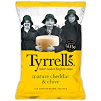 Tyrrell's Mature Cheddar and Chives Potato Chips, 150g