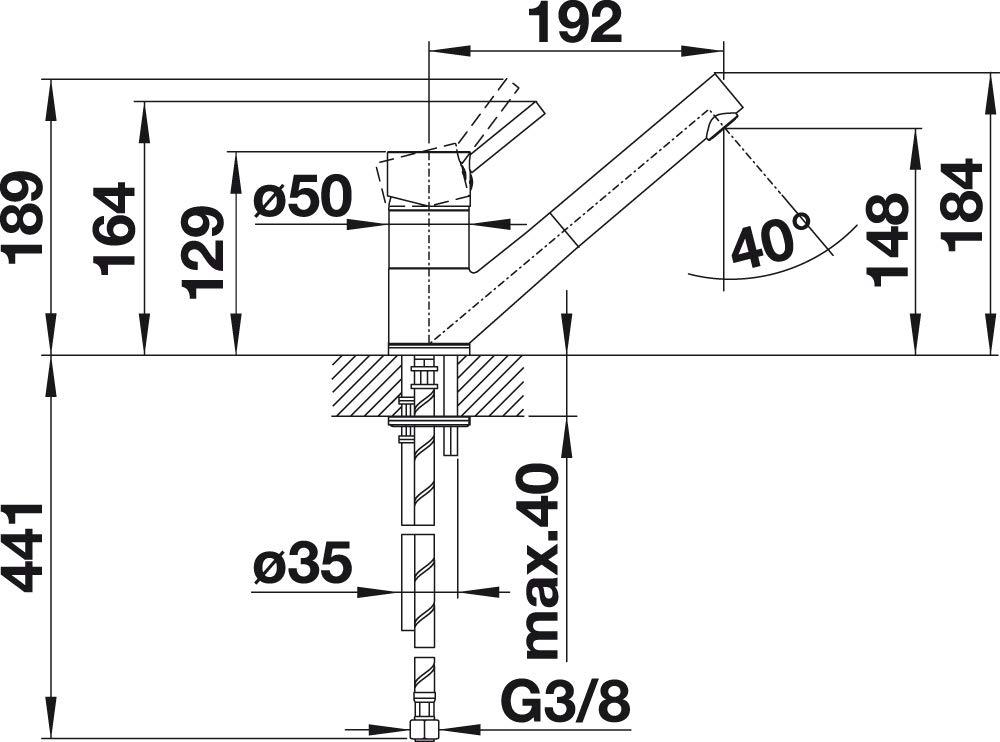 Robinet mitigeur Blanco 515337 Antas chrome