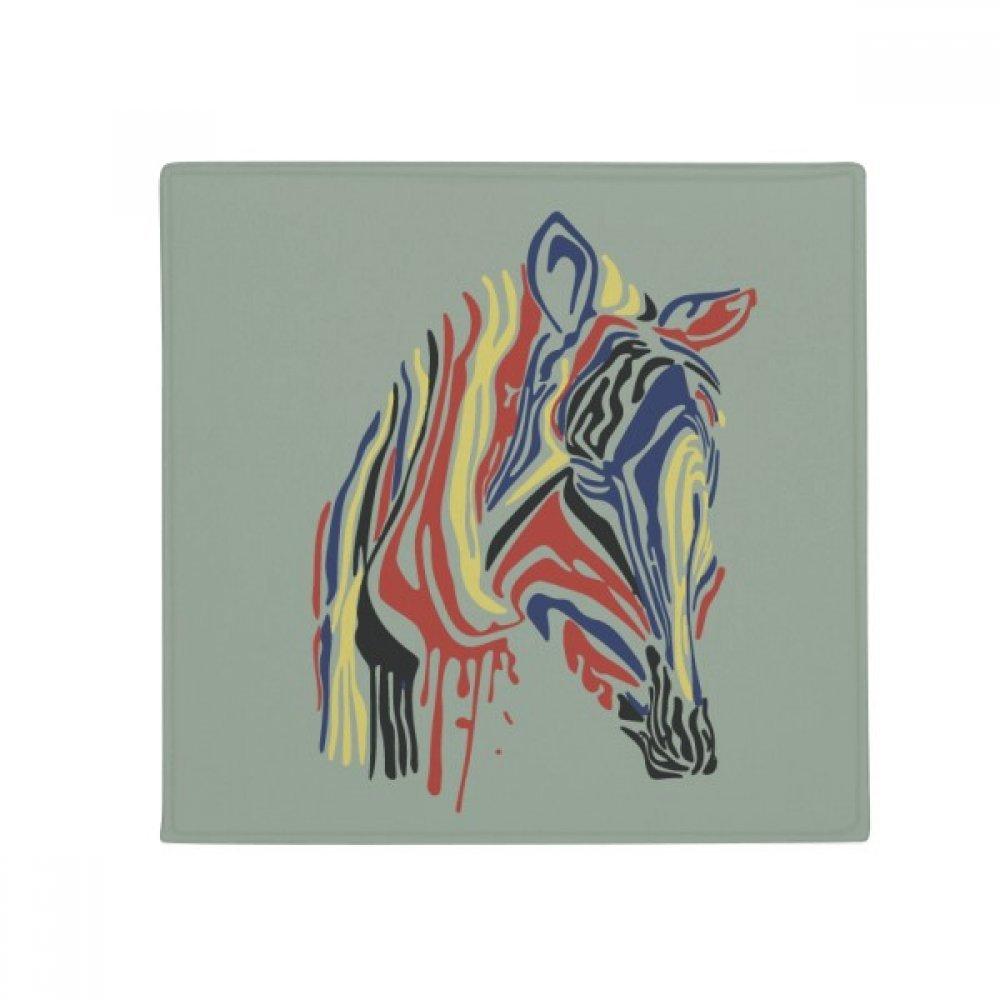 DIYthinker Graffiti Single Simple Colourful Zebra Animal Anti-Slip Floor Pet Mat Square Home Kitchen Door 80Cm Gift