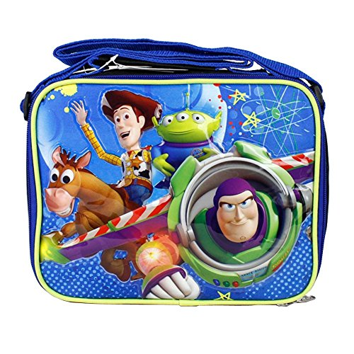 Disney Toy Story Black Boys Lunch Bag Woody and Buzz Light Year