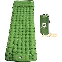 ElloGear Camping Self-Inflating Air Sleeping Pad Mat Foot Pump with Pillow, Great Compact Air Sleeping Pad for Tent…