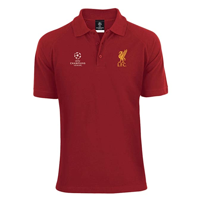 Red Liverpool Crest Champions of Europe Polo Shirt