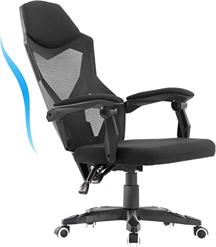 HOMEFUN Ergonomic Office Chair, High Back Adjustable Mesh Recliner Chair, Desk Task Chair with Armrests, Black